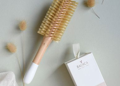 Hair accessories - Brosse ronde picots sanglier/nylon diametre 20mm - BACHCA