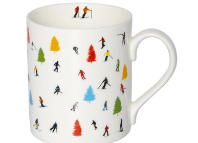 Mugs - TREE SKI MUG - POWDERHOUND