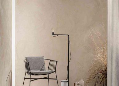 Floor lamps - LEST floor lamp in matt black metal and Carrara marble - RADAR INTERIOR
