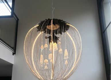 Hanging lights - PENDANT PARADISE BLACK SINGLE PIECE - LA LANGUOCHAT