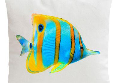 Coussinstextile - BUTTERFLY FISH Coussin 40*40 - ARTPILO