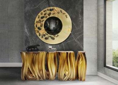 Console tables - MONOCHROME GOLD CONSOLE TABLE - INSPLOSION