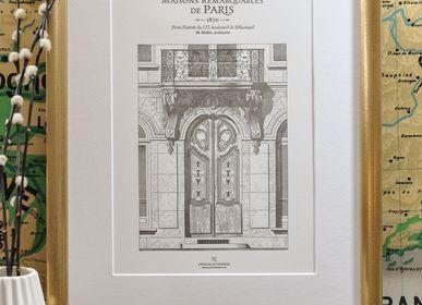 Poster - Art Print Parisian Door boulevard Sébastopol Architecture - L'ATELIER LETTERPRESS