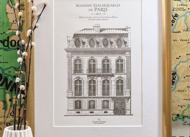 Poster - Art Print Parisian Building Champs-Elysées Architecture - L'ATELIER LETTERPRESS