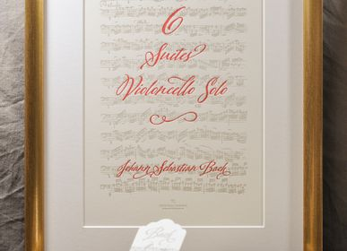 Poster - Art print Music Cello Suites by Bach - L'ATELIER LETTERPRESS