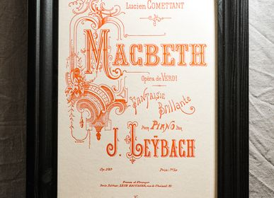 Poster - Art print Music Macbeth by Verdi - L'ATELIER LETTERPRESS