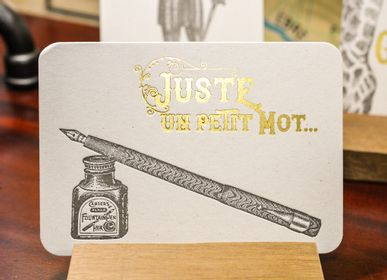 Card shop - Card Fountain Pen Just a Word - L'ATELIER LETTERPRESS