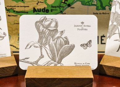 Stationery store - Card Magnolia of China - L'ATELIER LETTERPRESS