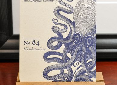 Stationery / Card shop / Writing - Card Octopus - L'ATELIER LETTERPRESS