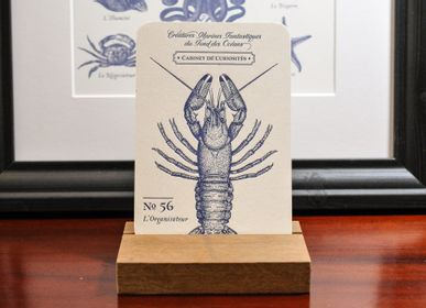 Stationery store - Card Lobster - L'ATELIER LETTERPRESS