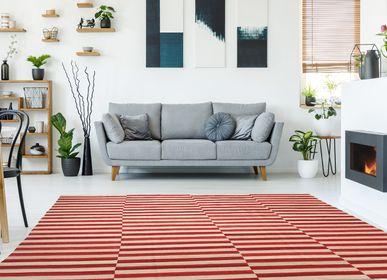 Rugs - Red&Beige Mazandaran Kilim  - ORIENT HANDMADE CARPETS