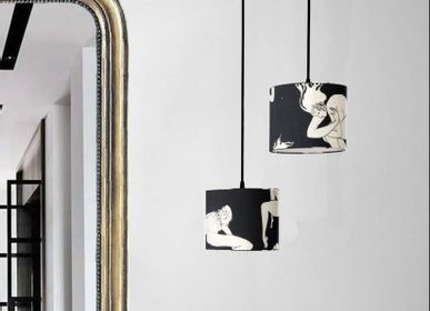 Hanging lights - Pendant lamp shade black women dance Pierre Frey -  SHĒDO