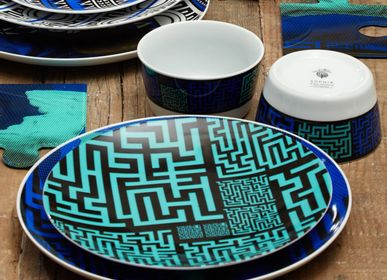 Assiettes de reception - Art de table/labyrinthe Collection éternelle - SOPHIA ENJOY THINKING