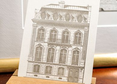 Stationery store - Card Parisian Building Champs-Elysées Architecture - L'ATELIER LETTERPRESS