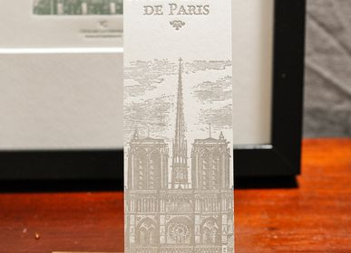 Stationery / Card shop / Writing - Bookmark Notre Dame de Paris - L'ATELIER LETTERPRESS