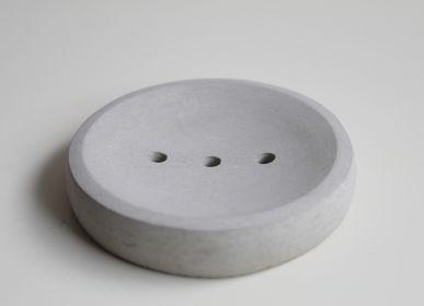 Objets connectés - Porte-savon en béton gris - CHAPITRE MAISON