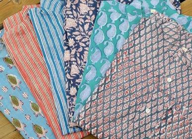 Apparel - Block print cotton shirt - PECHAAN