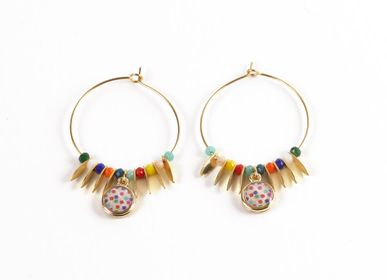 Jewelry - Hoop earings Summer Perolina - LITCHI
