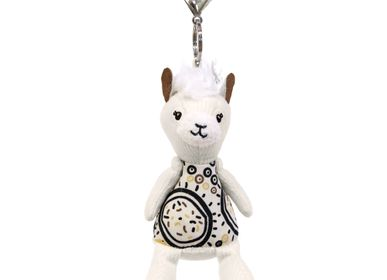 Leather goods - Plush Key Ring Muchachos the Llama - LES DEGLINGOS
