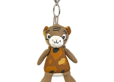 Stationery - Key Ring Plush Speculos the Tiger - LES DEGLINGOS