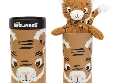 Childcare  accessories - Big Simply Deglingos Plush Speculos the Tiger - LES DEGLINGOS