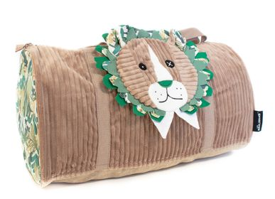 Travel accessories / suitcase - Week End Bag Jelekros the Lion - LES DEGLINGOS