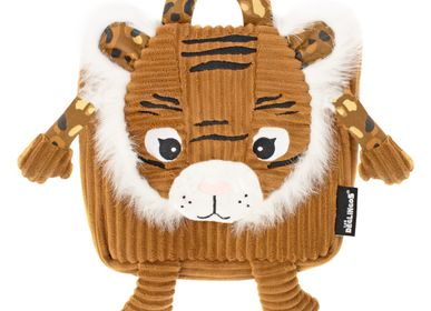 Bags / bookbags - Corduroy Backpack Speculos the Tiger - LES DEGLINGOS
