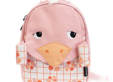 Travel accessories - 32cm Backpack Pomelos the Ostrich - LES DEGLINGOS
