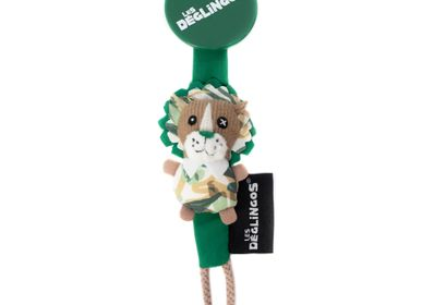 Childcare  accessories - Pacifier / Dummy Clip Jelekros the Lion - LES DEGLINGOS