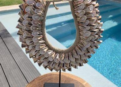 Objets de décoration - CONCHA Décoration mur de collier de coquillages tribaux - CASA NATURA