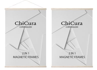 Wall decoration - 2 In 1 Magnetic Frames - Oak - CHICURA COPENHAGEN