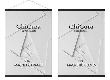 Other wall decoration - 2 In 1 Magnetic Frames - Ash Black - CHICURA COPENHAGEN