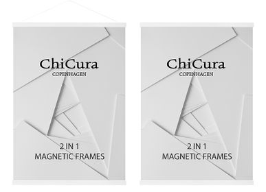 Wall decoration - 2 In 1 Magnetic Frames - Ash White - CHICURA COPENHAGEN