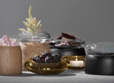 Decorative objects - Boletus Oak/Clear Glass, w. 12 cm - CHICURA COPENHAGEN