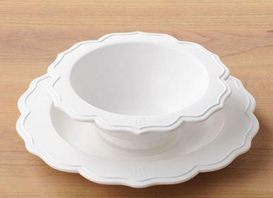 Repas pour enfant - REALE Ensemble de 2 Peaces pour enfant Bol, Assiette (3 Couleurs) Japonais fibre de bambou recyclable matériau sans BPA - REALE