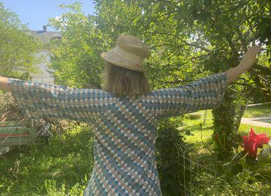Prêt à porter - ROBE BUTTERFLY COTON NATUREL BLOCK PRINT - PECHAAN