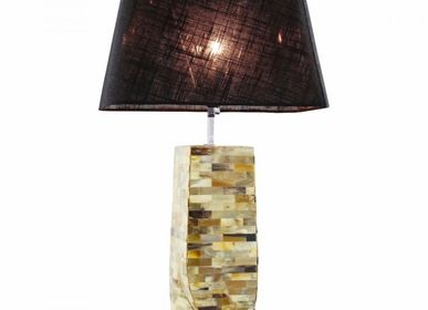 Table lamps - lamp base horn twisted H 30cm - MOON PALACE