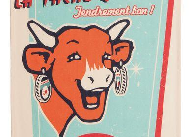 Torchons textile - La Vache qui Rit - Rétro Vanille / Torchon imprimé - COUCKE