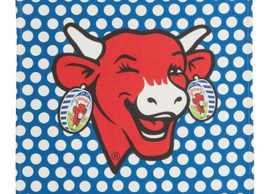 Tea towel - La Vache qui Rit - Pop Bleu / Tea towel - COUCKE