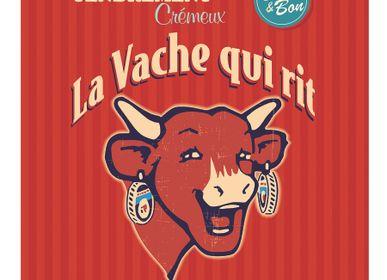 Torchons - La Vache qui Rit - Rétro Rouge / Torchon imprimé - COUCKE