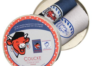 Linge d'office - La Vache qui Rit - French Vache / Lot cadeaux - COUCKE
