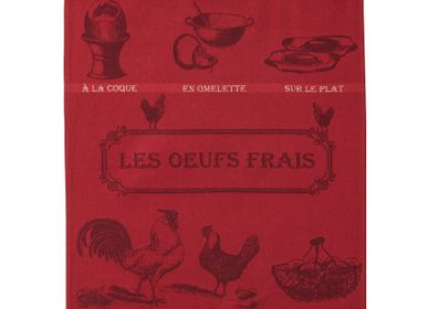 Tea towel - Œufs Frais / Tea towel - COUCKE