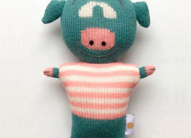 Decorative objects - NICO the pig . Baby alpaca toy - SOL DE MAYO
