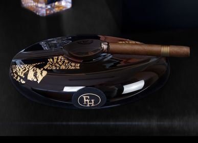 Personalizable objects - Ashtray PRESTIGE BLACK - FIL-HARMONY