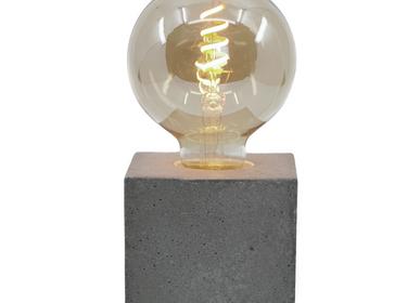 Lampes de table - Lampe à poser | Lampe Béton | Cube | Béton coloré - JUNNY