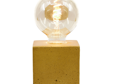 Decorative objects - Concrete Lamp | Cube | Coloured Concrete - JUNNY