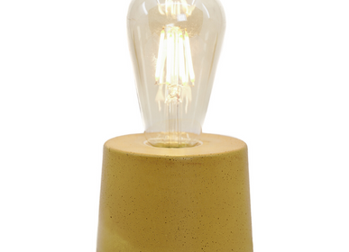 Objets de décoration - Lampe à poser | Lampe Béton | Collection lampe cylindre | Béton coloré - JUNNY