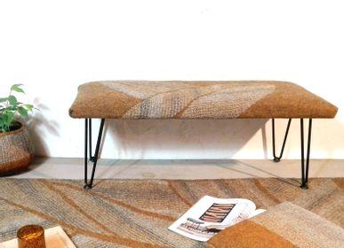 Upholstery fabrics - M&F handmade wool felt bench - GHISLAINE GARCIN