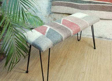 Benches - M&F handmade wool felt bench - GHISLAINE GARCIN
