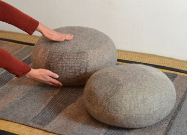 Cushions - Zafu hand made wool felt cushion - GHISLAINE GARCIN